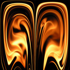 abstract fire pattern on black background