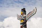 Totem pole in Vancouver, British Columbia, Canada poster