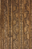 Details of a carved gate in Romania. poster