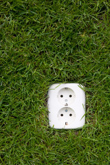 energy consept outllet in grass
