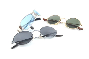 Simple Sunglasses isolated on a white background.