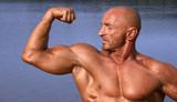 biceps pose poster