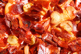 crushed red hot chilli pepper, super macro shot poster