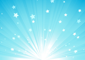 light rays and burst of stars