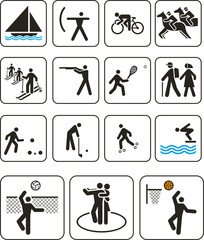Sports olympic games signs