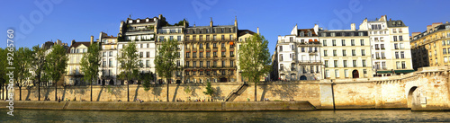 France, Paris: Panoramic city view with Seine river