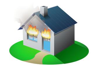 Maison en feu (détouré)