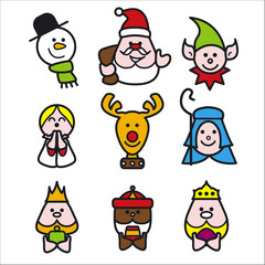 christmas people illustration