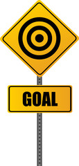 Goal Road Sign