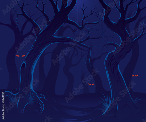 Scary forest at night 2