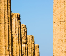 doric column of Valley Of Temples in Agrigento