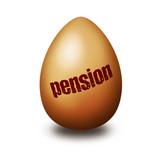 Pension egg poster