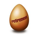 Retirement egg poster