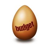 Budget egg poster