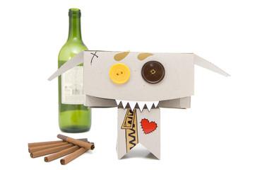 Drink wine and smoke
