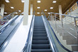 moving escalator of modern large shopping centre