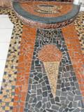 Glace et café en mosaique sur le sol, Brésil. poster
