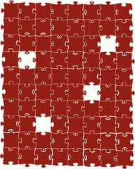 Red puzzle. Vector illustration