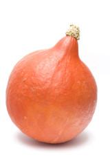 an orange pumpkin isolated on white. halloween