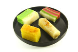 Exotic Colorful Traditional Cakes Commonly Found in South Asia poster