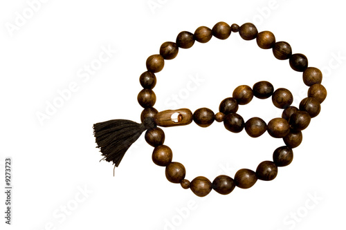 brown beads isolated on white