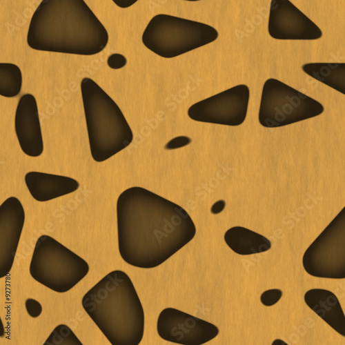 Safari Jungle Themed Seamless Background Leopard Abstract