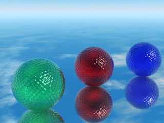 Color glass spheres