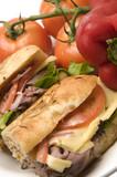 gourmet roast beef sandwich havarti cheese rosemary bread poster