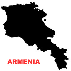 Armenia map High resolution