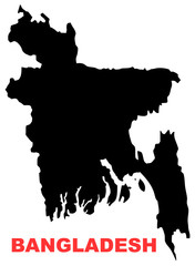 Bangladesh map High resolution