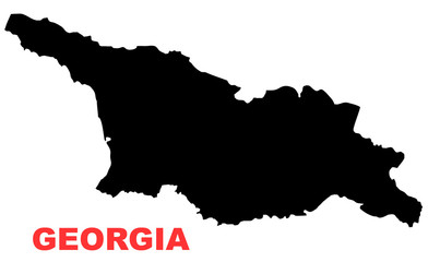 Georgia Map High resolution