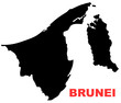 Brunei Map High resolution
