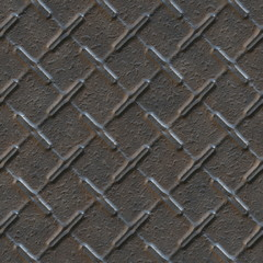 Seamless texture of industrial metal plate background