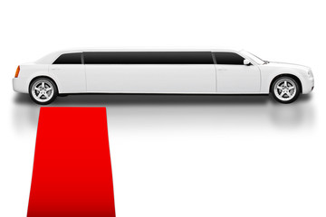 Limousine with Red Carpet