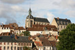 Picturesque, small town of Joigny. Burgundy, France