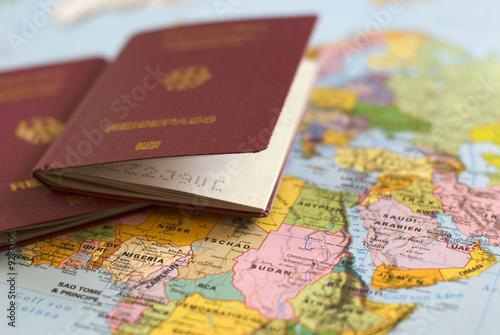 Leinwanddruck Bild Reisepass 01