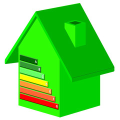 isolated green energy efficiency house