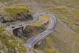 Road in the mountains-Transfagarasan Romania poster