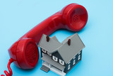Telephone with house – assistance with your mortgage questions poster