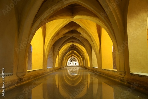 ARABIC BATH IN ALCAZAR OF SEVILLA (SPAIN)