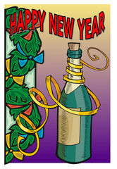 Celebracion de Navidad, Botella de Cava