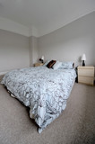 bedroom in newly converted house clean design modern poster