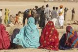 Female Spectators in the Desert of Rajasthan poster