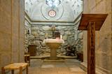 Baptismal Font. Inside of Crypt Baptistery poster