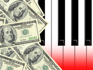 dollars and piano