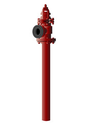 fire hydrant on white base
