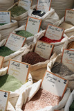 Provencal herbs on a local market in France poster