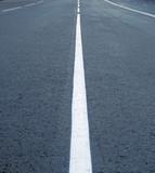 asphalt road line,  dividing lines on the highway poster