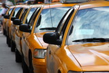 Fototapety New-York, file de taxis