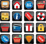 Shopping Icon Set. Easy To Edit Vector. poster